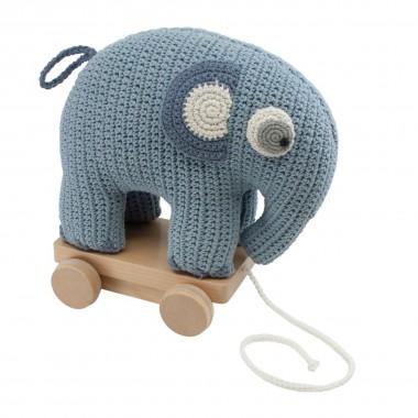Eléphant à roulettes