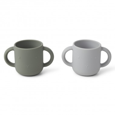 Lot de 2 tasses en silicone...