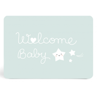 Carte Welcome Baby Bleue -...