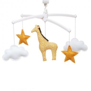 Mobile musical girafe jaune