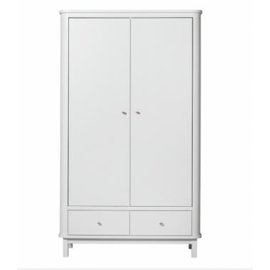 Armoire Wood 2 portes - Blanc