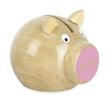 Tirelire cochon bois...