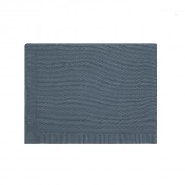Couverture en tricot - Blue...