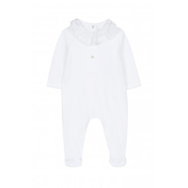Pyjama - Blanc velours col...