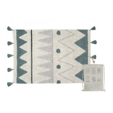 Tapis Aztèque bleu Mini