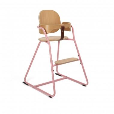 Chaise haute Tibu rose avec...