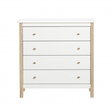 Commode Wood 4 tiroirs -...