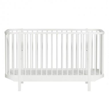 Lit bébé évolutif Wood - Blanc