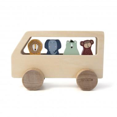 Bus en bois animaux