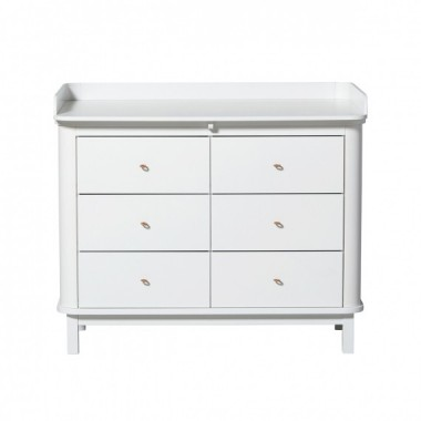 Commode Wood 6 tiroirs Blanc