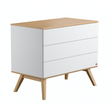 Commode 3 tiroirs nature -...